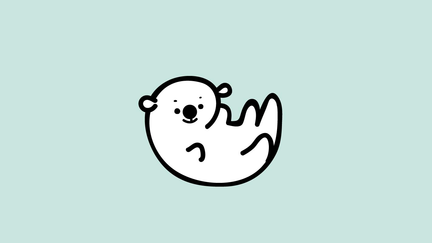 シュガーアイランドの赤ちゃんラッコ