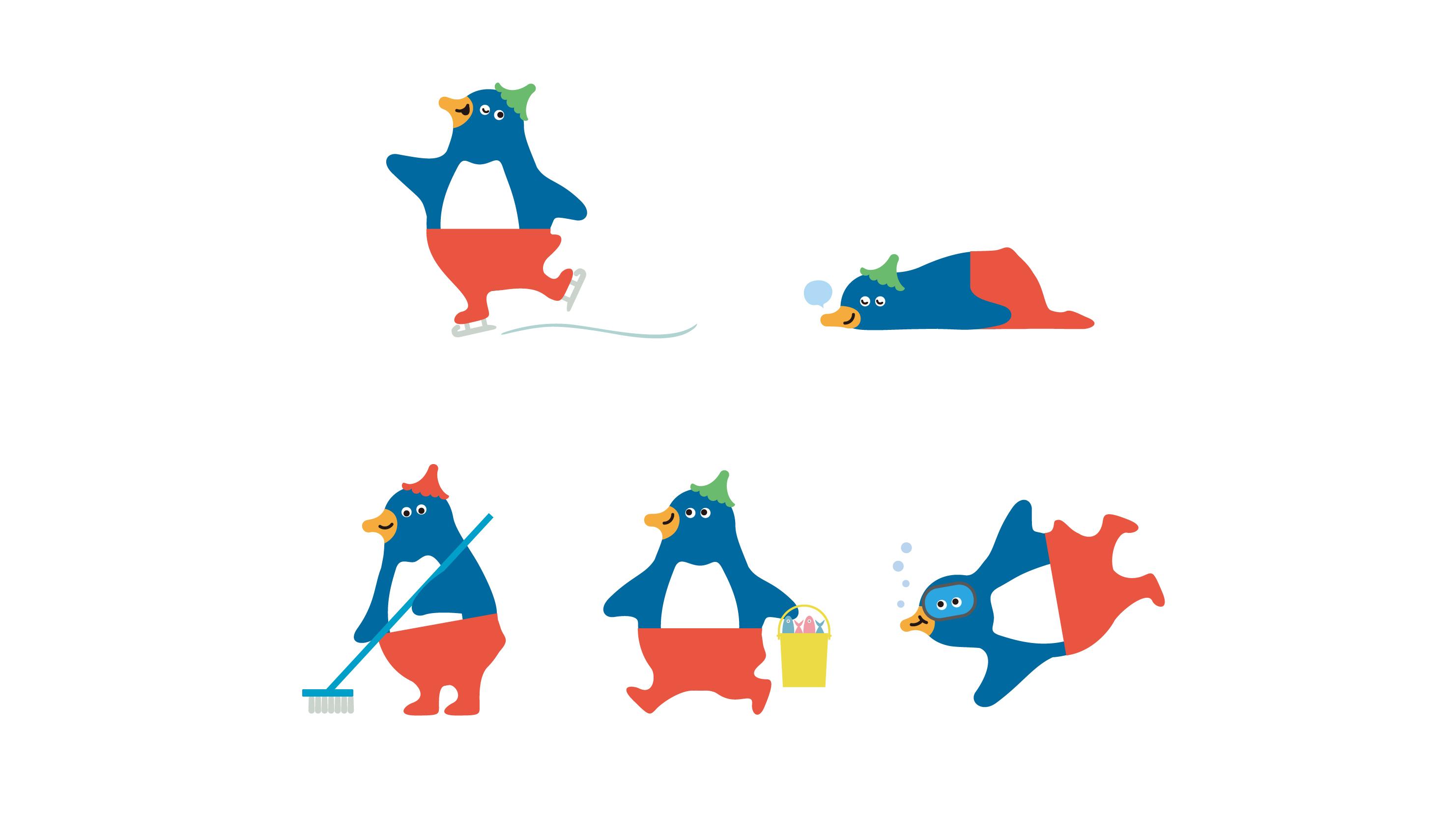 仙台うみの杜水族館 ペンギンのモーリーくんデザイン